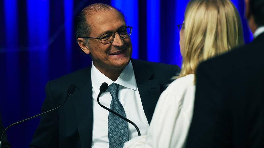 O candidato à reeleição Geraldo Alckmin