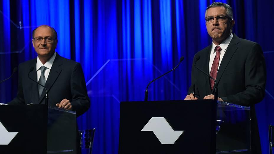 Os candidatos Geraldo Alckmin, do PSDB, e Alexandre Padilha, do PT