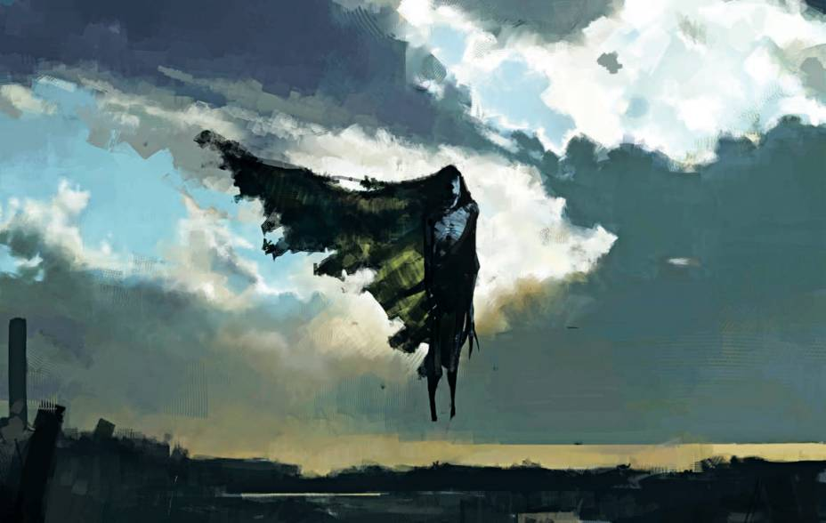 Arte de um dementador, por Rob Bliss, para Harry Potter e o Prisioneiro de Azkaban (2004)