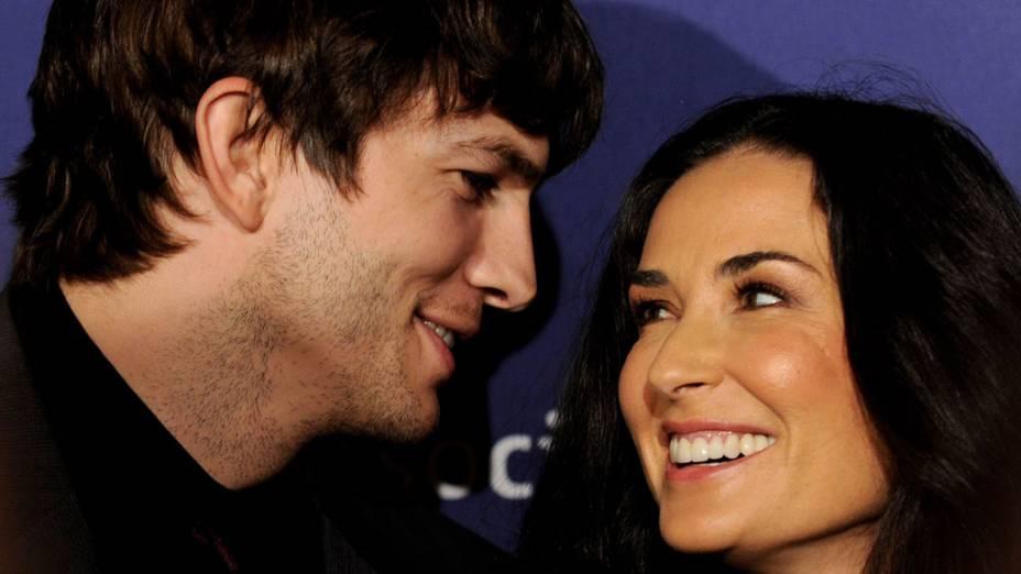 Ashton Kutcher e Demi Moore durante evento em Beverly Hills, na Califórnia - 18/03/2010