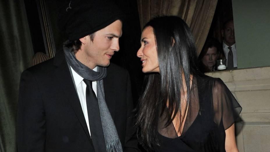 Ashton Kutcher e Demi Moore durante evento em Nova York - 20/01/2011