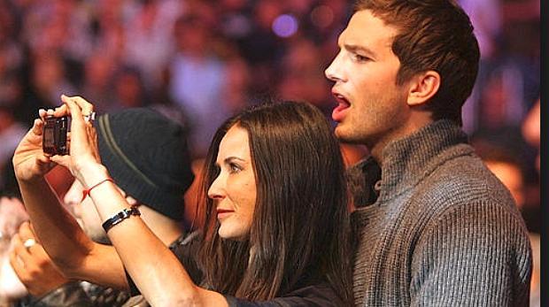 Demi Moore e Ashton Kutcher no UFC