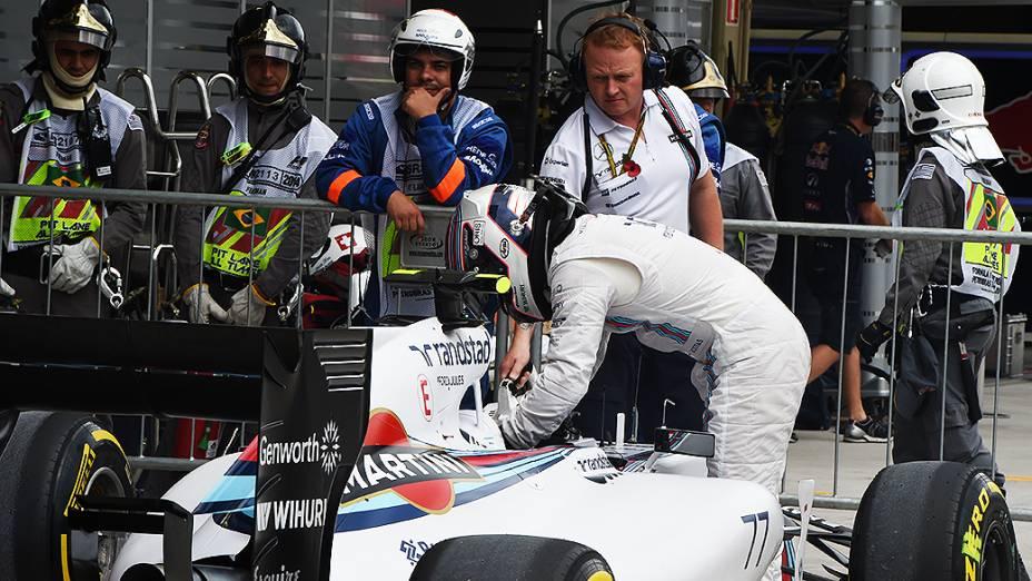 Felipe Massa conquistou o terceiro melhor tempo no treino classificatório do sábado