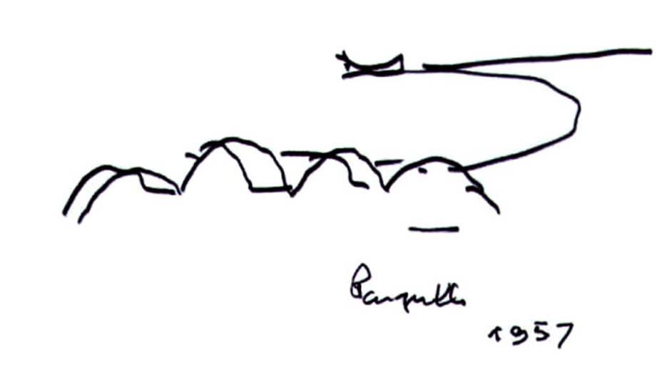 Desenho da Capela da Pampulha