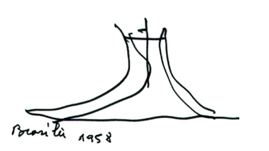 Desenho de Oscar Niemeyer