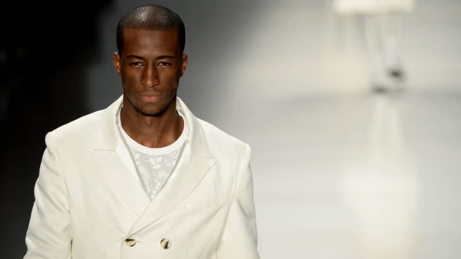 Alexandre Herchcovitch apresenta a coleção masculina para o verão 2015, na São Paulo Fashion Week