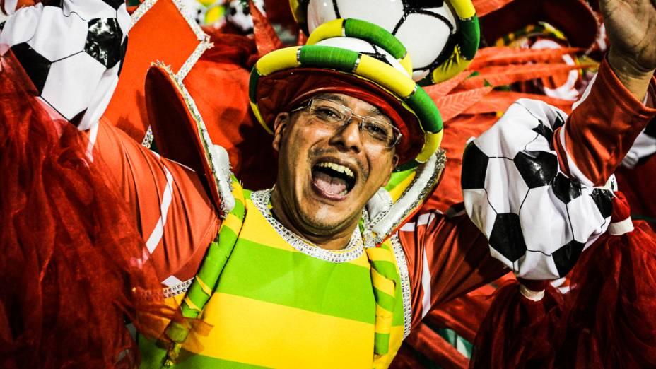 Musa no desfile da Pérola Negra, em São Paulo