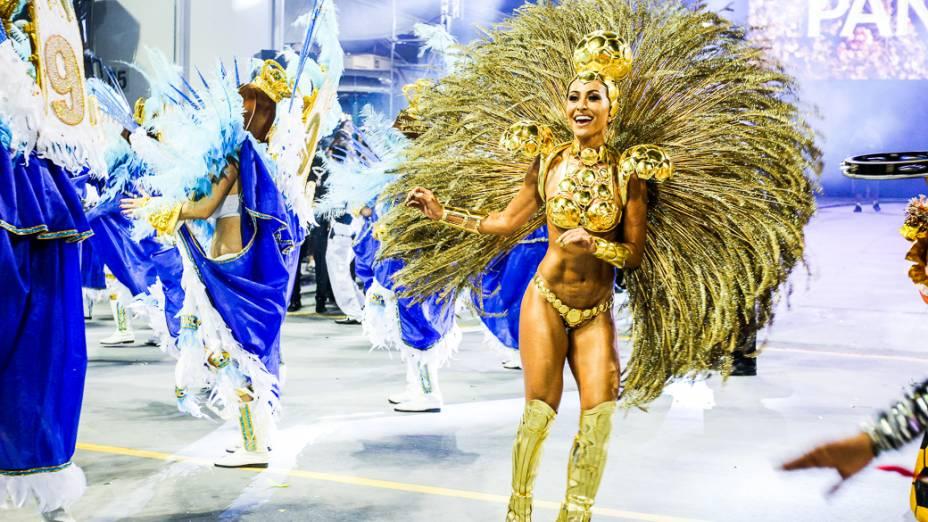 Império da Casa Verde no segundo dia de desfiles das escolas de samba do Grupo Especial no Carnaval de São Paulo