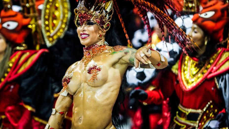 Musa no desfile da Gaviões da Fiel, em São Paulo