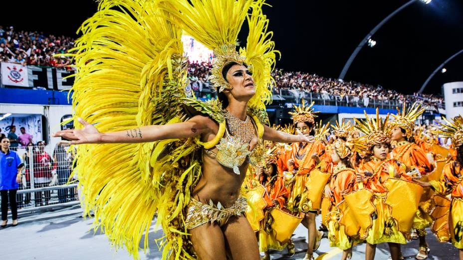 Thaila Ayala na Gaviões da Fiel, em São Paulo