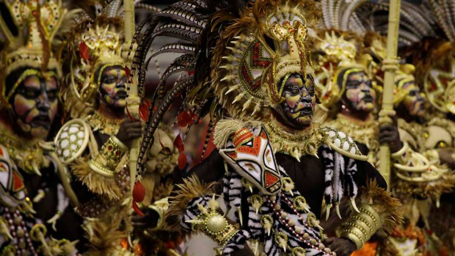 Desfile da Mocidade Alegre, em São Paulo, no Carnaval 2012