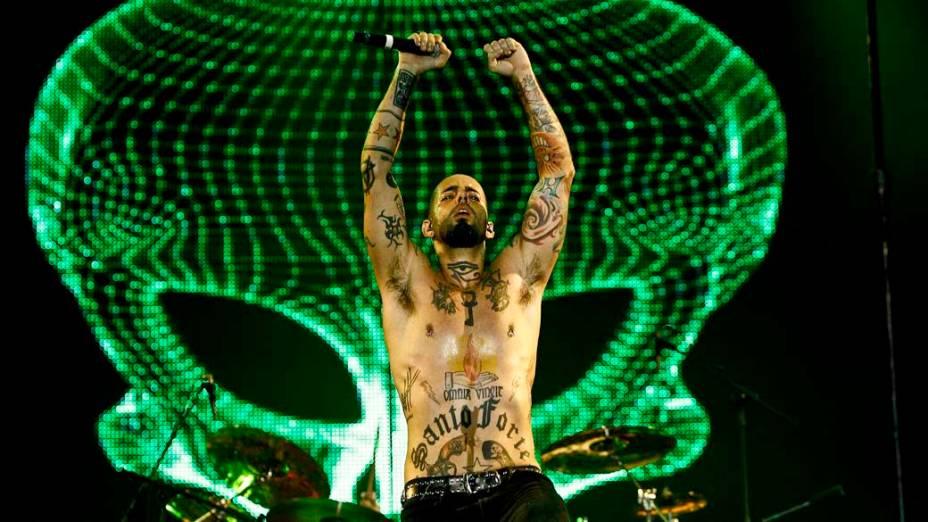 Show dos Detonautas no palco Mundo, no último dia do Rock in Rio, em 02/10/2011