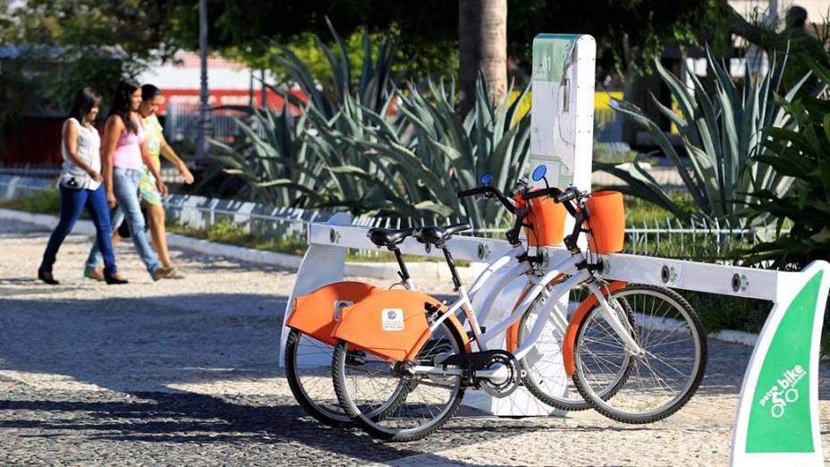 Espaço para aluguel de bicicletas em Petrolina