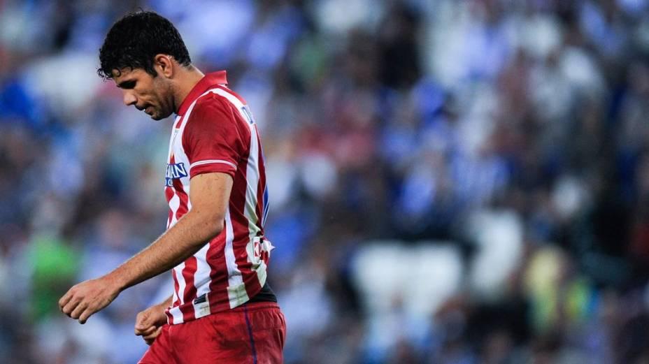 Diego Costa com a camisa do Atlético de Madrid: entre duas pátrias