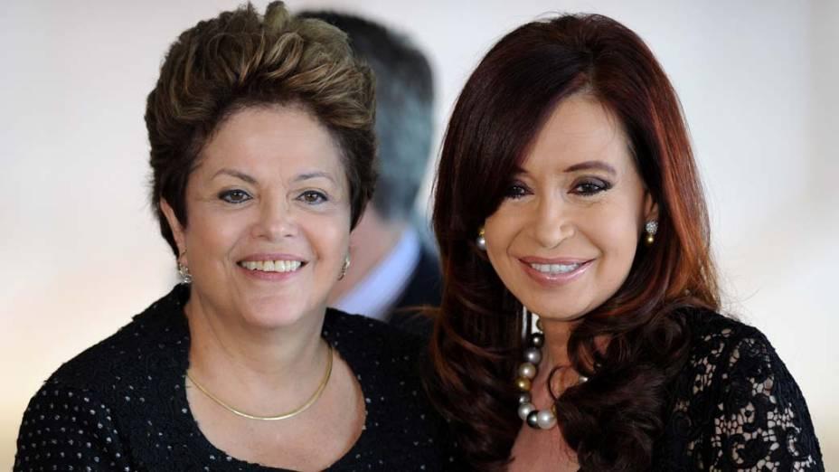 Dilma e Cristina Kirchner durante encontro do Mercosul, em Brasília