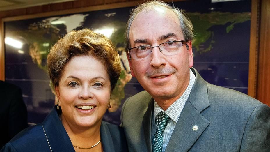 Eduardo Cunha e Dilma Rousseff