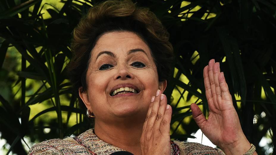 Presidente e candidata à reeleição Dilma Rousseff participa da abertura da Expointer em Esteio (RS) - 05/09/2014