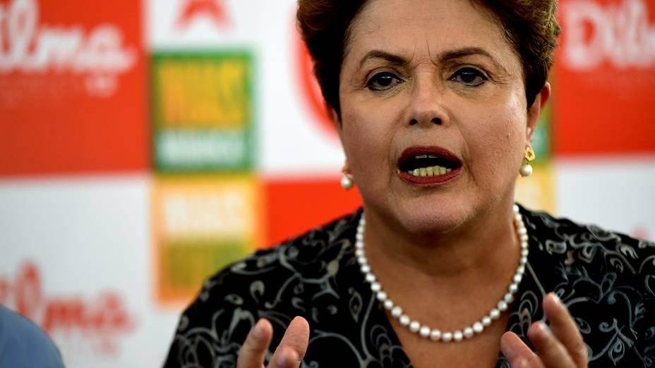 A presidente Dilma Rousseff durante um evento de campanha em Ribeirão Preto, interior de São Paulo - 30/08/2014