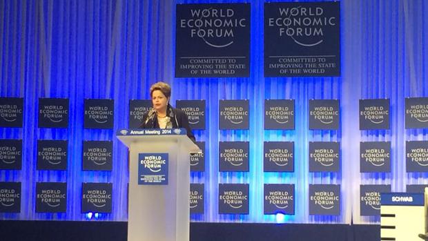 Dilma durante o Fórum Econômico Mundial, em Davos