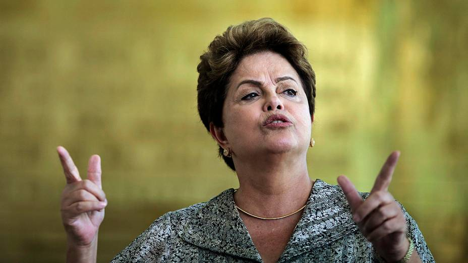 A presidente Dilma Rousseff durante coletiva, no Palácio do Planalto, em Brasília - 19/09/2014