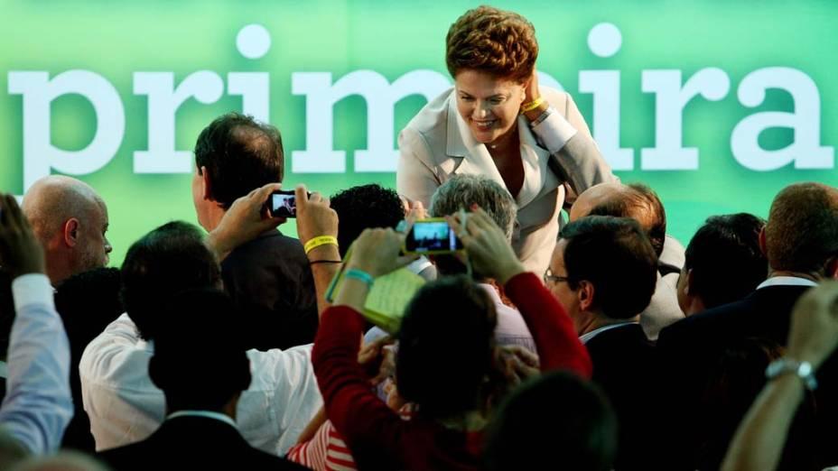 Dilma Rousseff discursa após resultado de sua vitória em Brasília