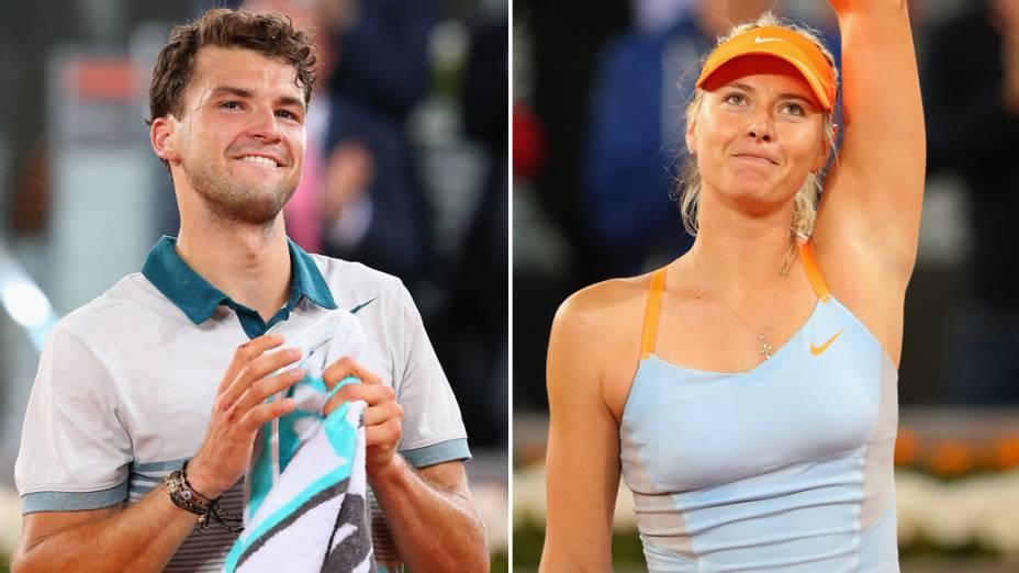 Dimitrov e Sharapova: nas primeiras rodadas, só vitórias em Madri