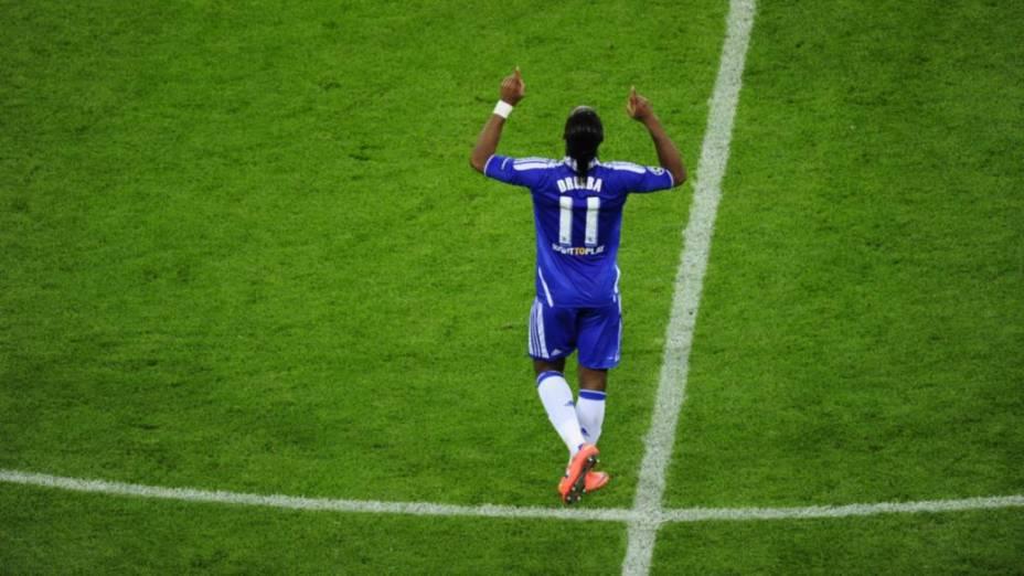 Drogba empatou para o Chelsea
