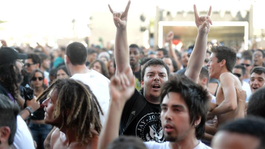 Público dutante apresentação de Marky Ramone & Michael Graves no segundo dia do Rock in Rio 2013