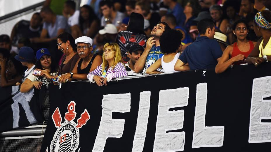 Movimentação no Sambódromo do Anhembi, na Zona Norte de São Paulo para o segundo dia de Desfiles do Grupo Especial paulistano