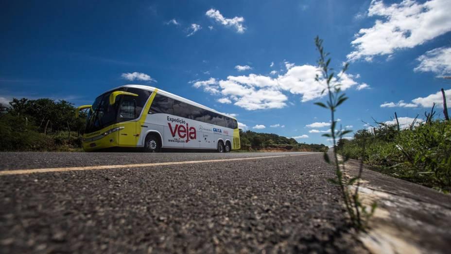 Na foto estrada na Chapada Diamantina chegando proximo a cidade de Irece-BA