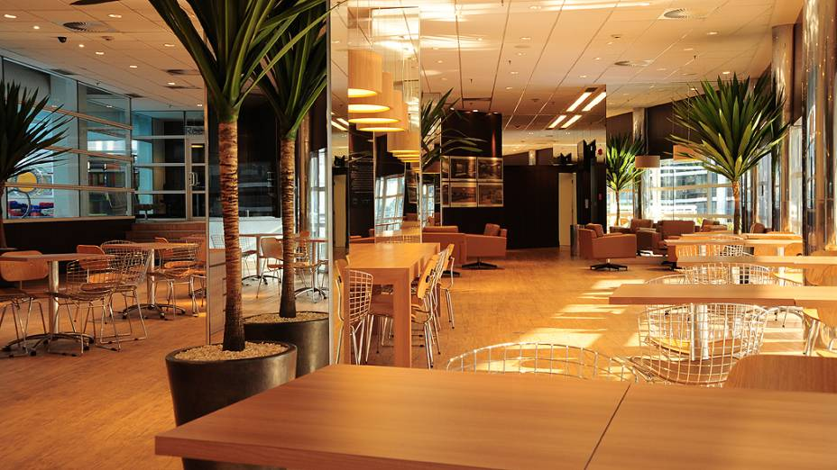 Café e espaço de intereção da Reebok Vila Olímpia