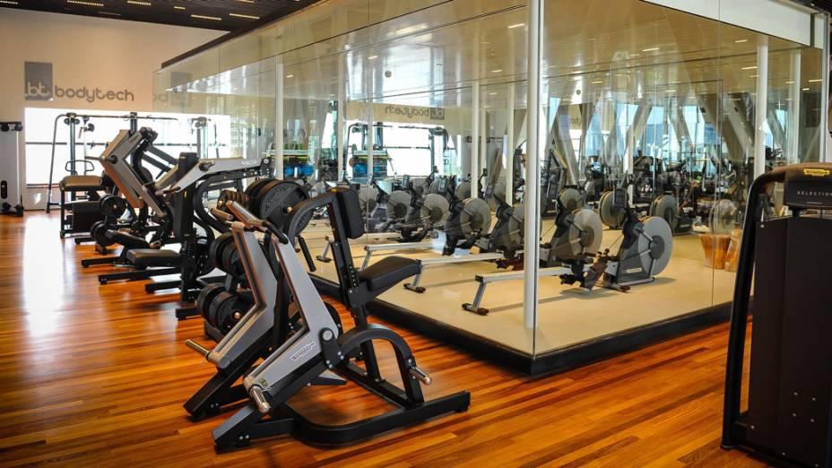 Sala exclusiva de remo indoor da Academia Bodytech Iguatemi