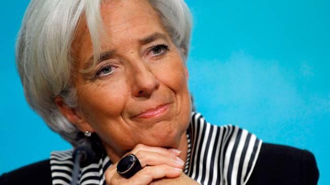 Diretora do Fundo Monetário Internacional Christine Lagarde, realiza uma coletiva de imprensa para discutir o FMI