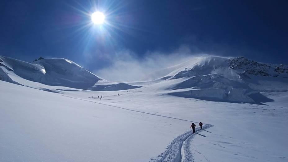 A família Lemann freqüenta um chalé próximo à elegante estação de esqui de Esqui de ST Moritz