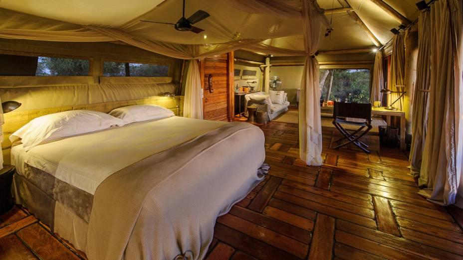 O Mombo Camp fico próximo do Delta do Okavango, o maior delta fluvial do mundo