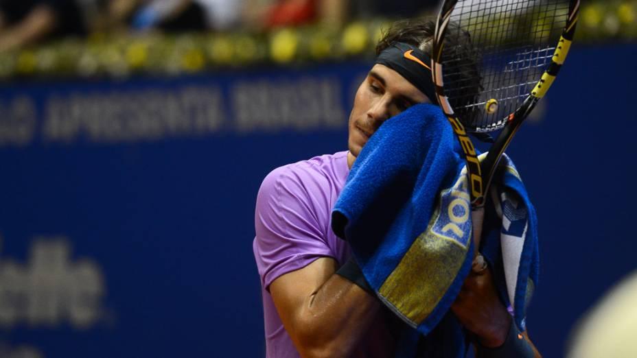 Nadal na Final do Brasil Open, no Ginásio do Ibirapuera