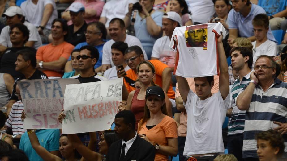 Público durante final do Brasil Open, no Ginásio do Ibirapuera