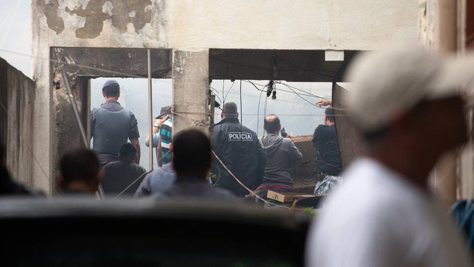Local onde caiu a aeronave que transportava Eduardo Campos, em Santos