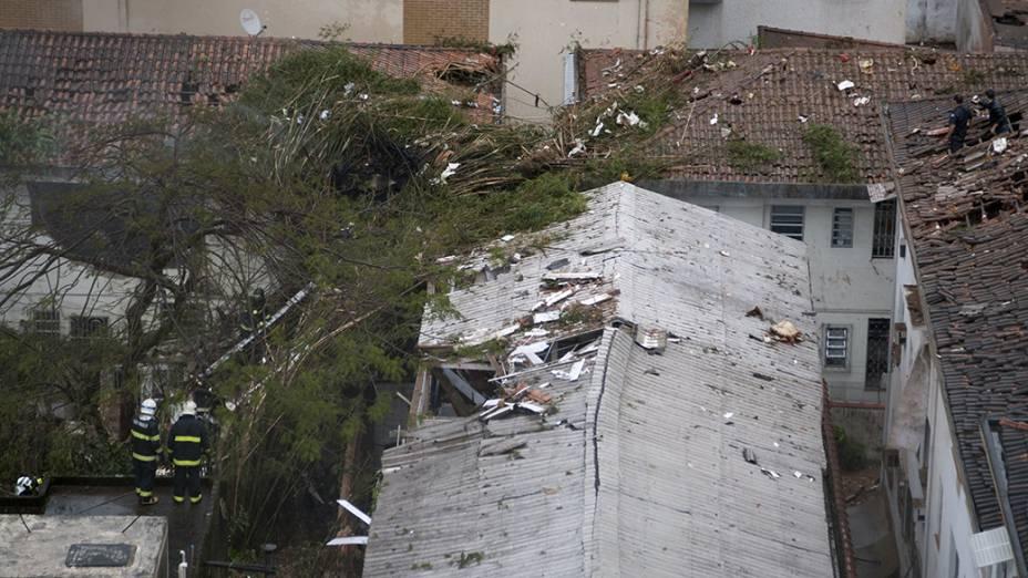 Local do acidente envolvendo Eduardo Campos, em Santos