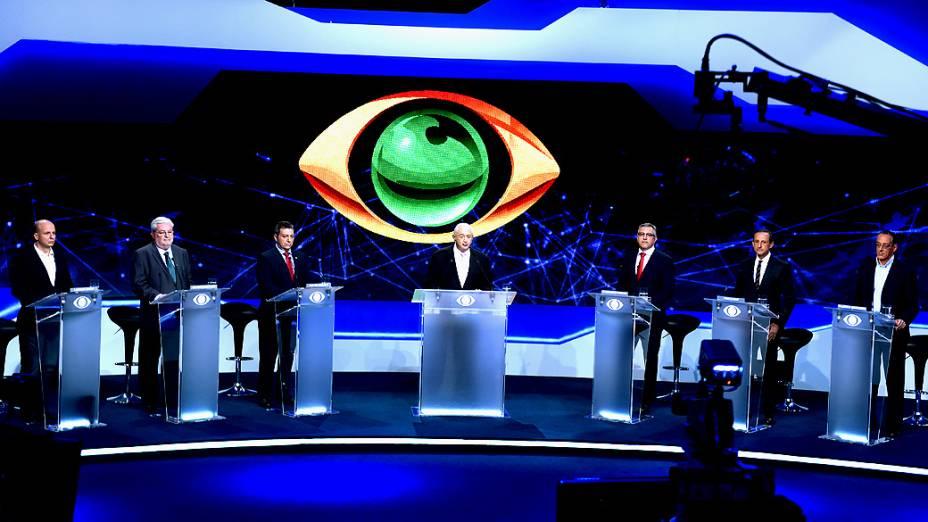 Primeiro debate para o governo do Estado de São Paulo realizado na TV Bandeirantes neste sábado (23)