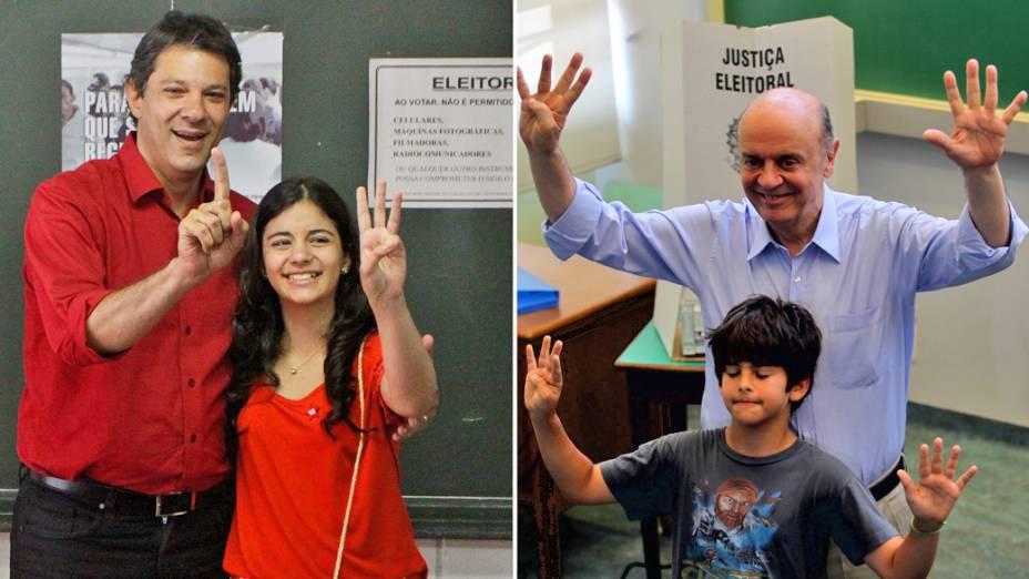 Fernando Haddad e José Serra votam em São Paulo