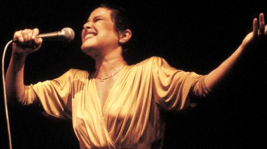 Elis Regina no show Trem Azul, em 1981