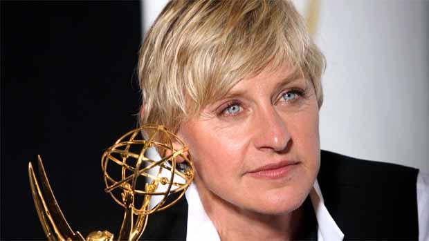 A comediante Ellen DeGeneres milita pela causa dos portadores do vírus HIV