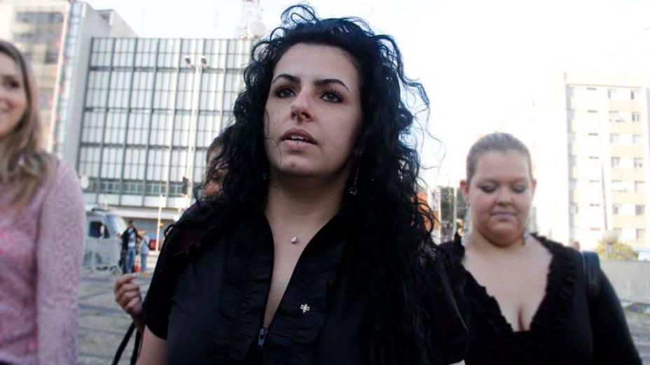 A advogada de Lindemberg, Ana Lucia Assad, chega para o segundo dia de julgamento