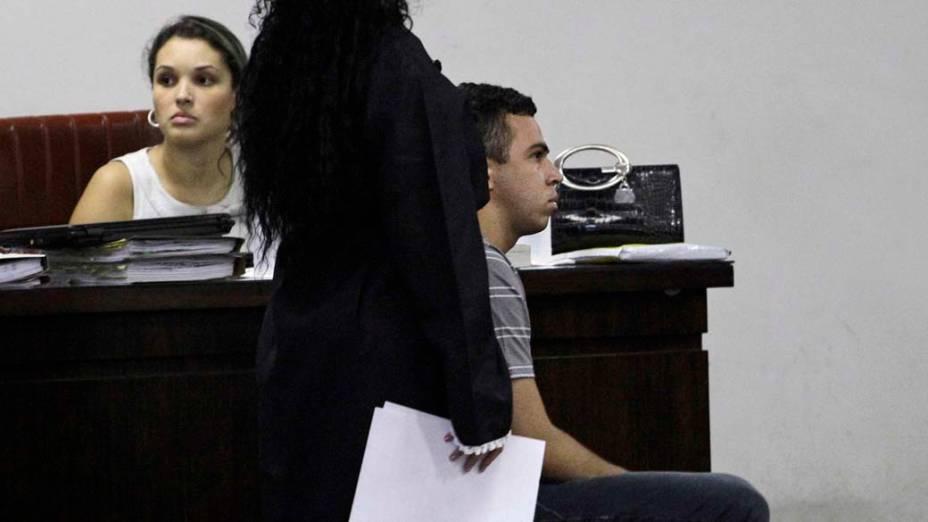 Lindemberg Alves, acusado de matar sua ex-namorada Eloá, no primeiro dia de julgamento, em Santo André