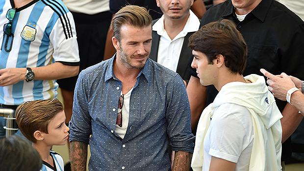David Beckham e Kaká no encerramento da Copa