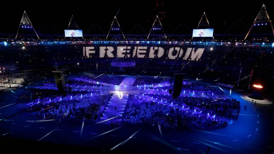 Apresentação de George Michael na festa de encerramento dos Jogos Olímpicos de Londres<br>