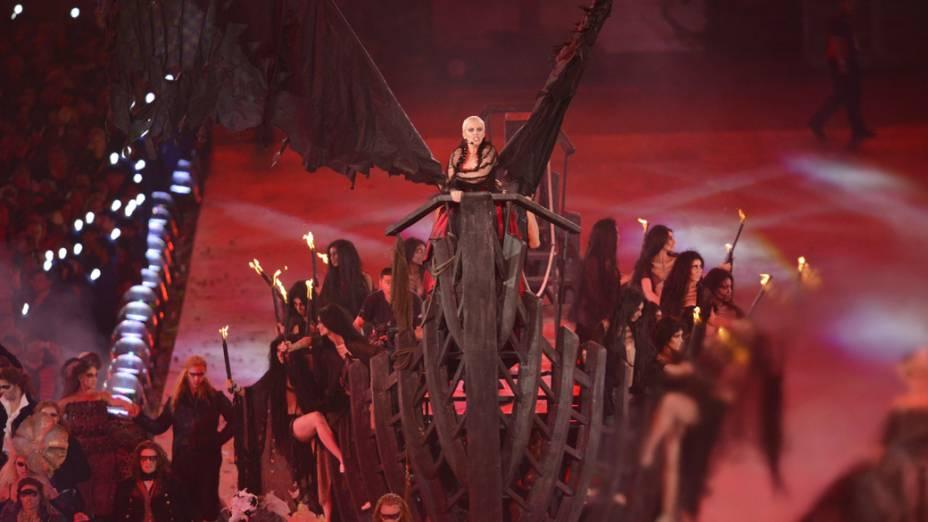 Apresentação de Annie Lennox na festa de encerramento dos Jogos Olímpicos de Londres