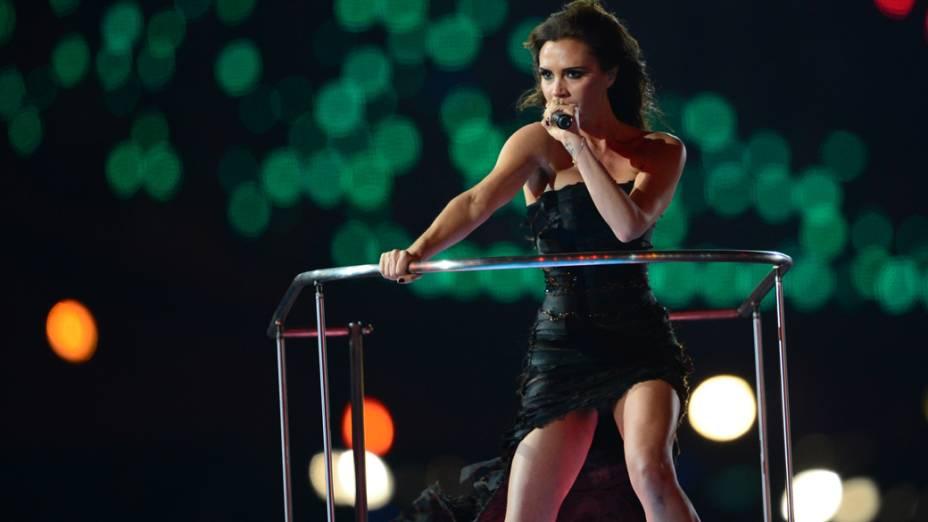 Victoria Beckham na festa de encerramento dos Jogos Olímpicos de Londres