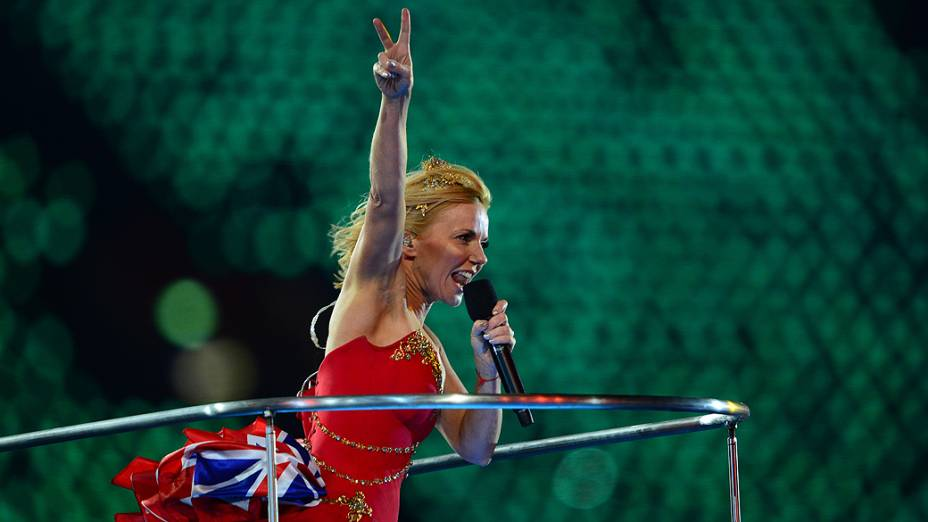 Geri Halliwell na festa de encerramento dos Jogos Olímpicos de Londres